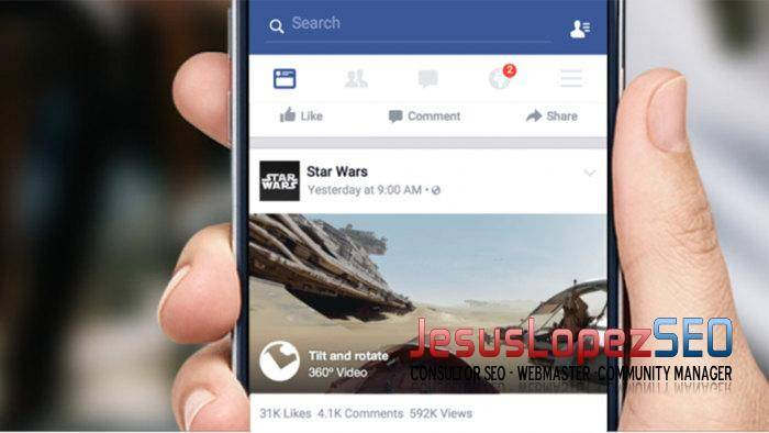 vídeos 360° en social media