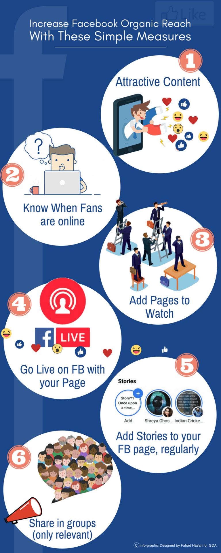 como aumentar alcance en facebook infografia