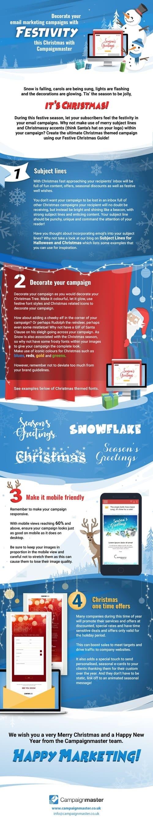 email marketing navideño para vender más #infografía